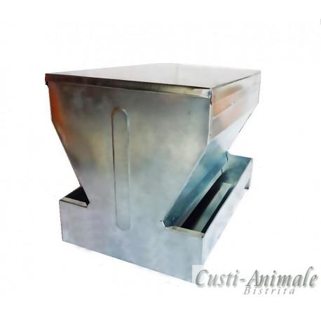 Hranitor rezervor dublu pentru gaini (zincat)
