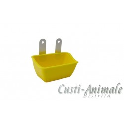 Pot with aluminium hooks yellow