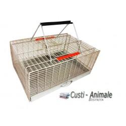 Cusca transport porumbei vopsita, GRI, 60x40x25 cm